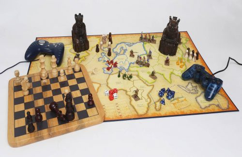 a variety of board games