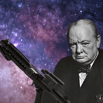 Did Sir Winston Churchill's gun inspire Star Wars?