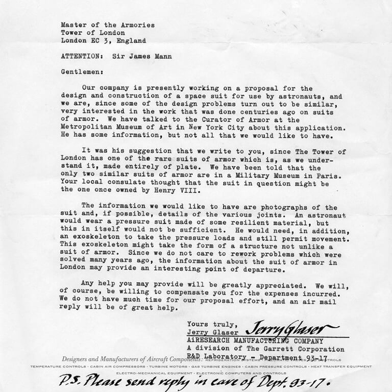 A letter typed in typewriter font with a signature at the bottom