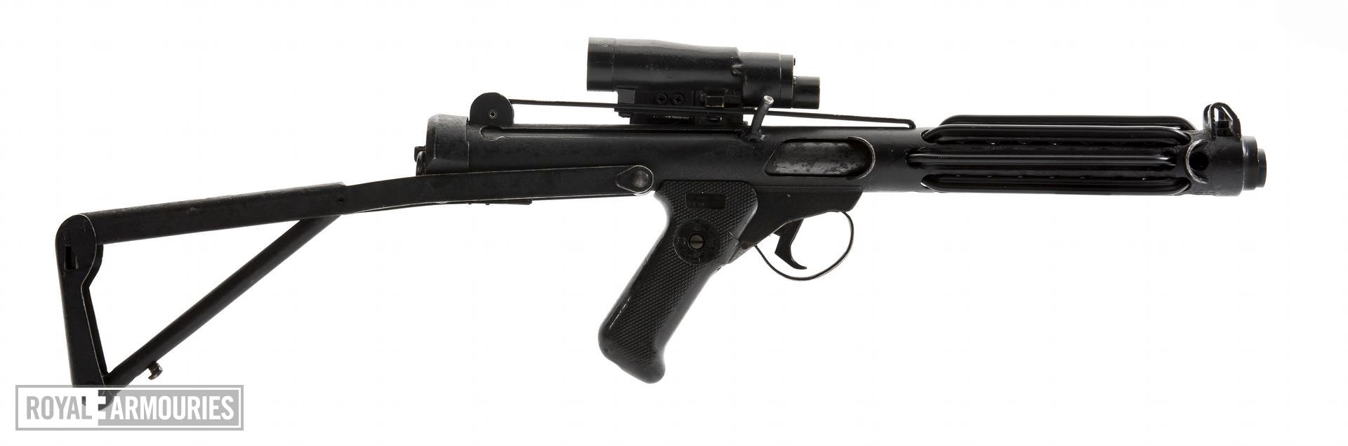 E11 blaster with stock extended
