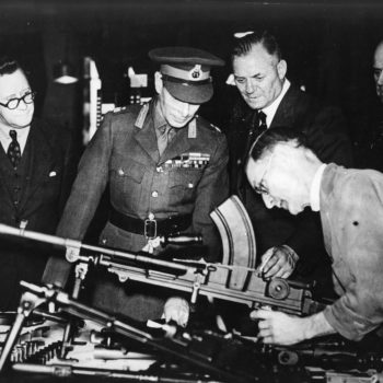 The King's visit to the Royal Small Arms Factory