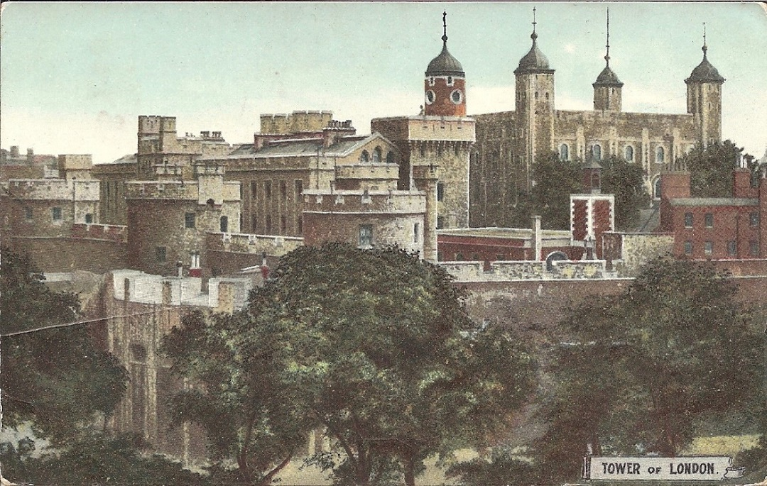 A postcard with a view of the White Tower