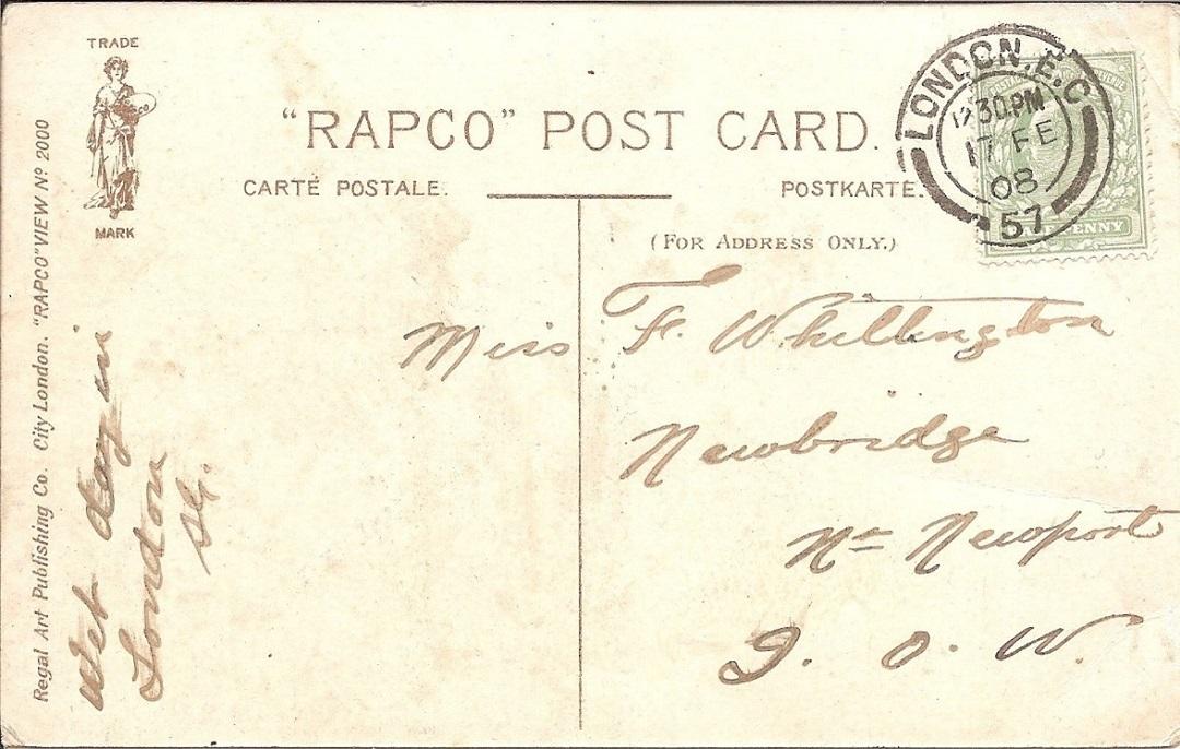 A reverse of a Postcard