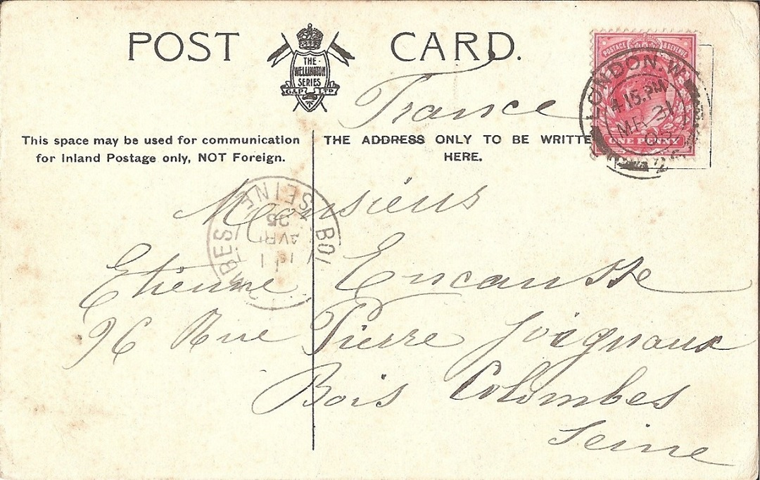 Post card in french