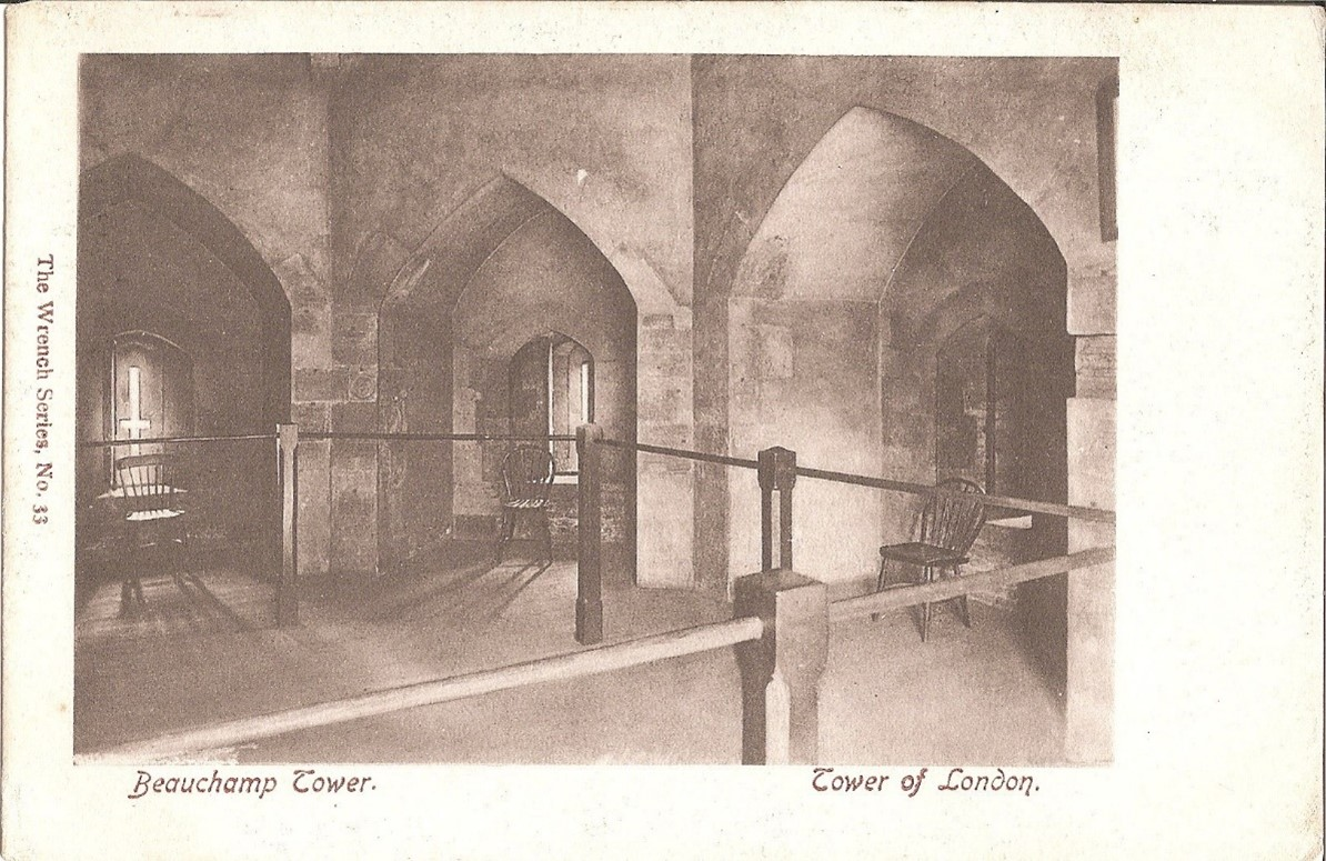 The inside of Beauchamp tower