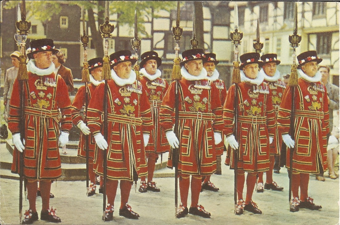 Beefeaters at attention