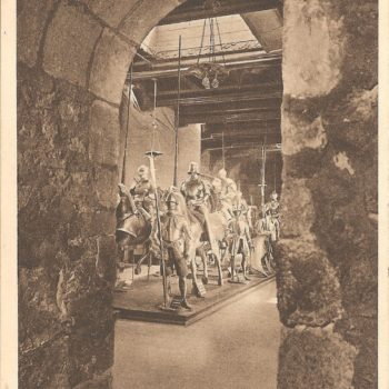 Through the Norman arch to the Horse Armoury