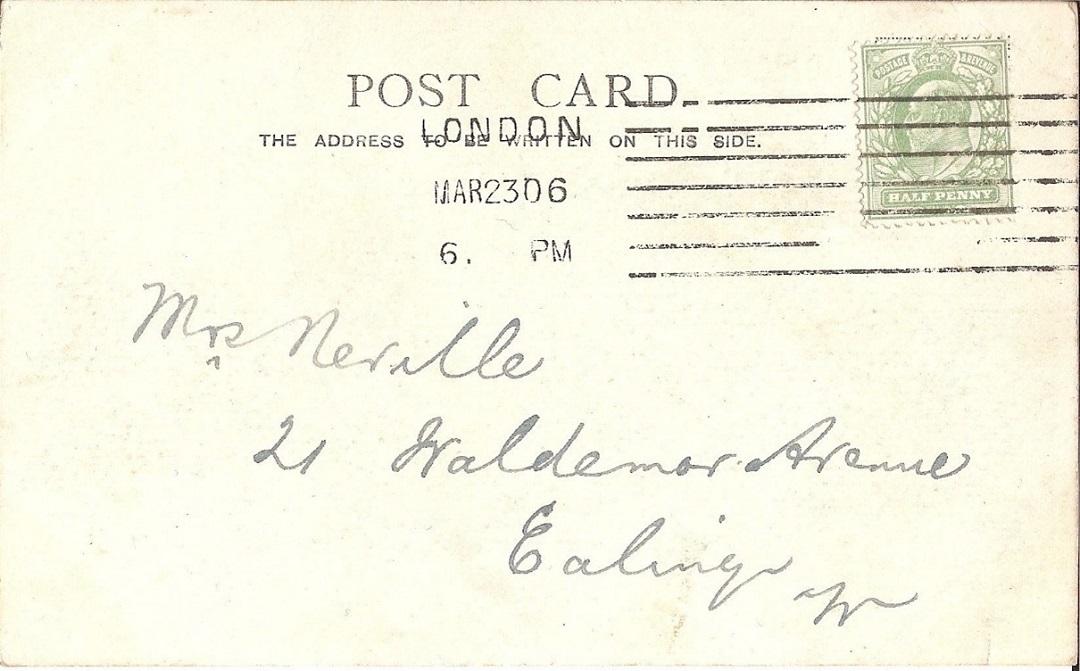Postcard message