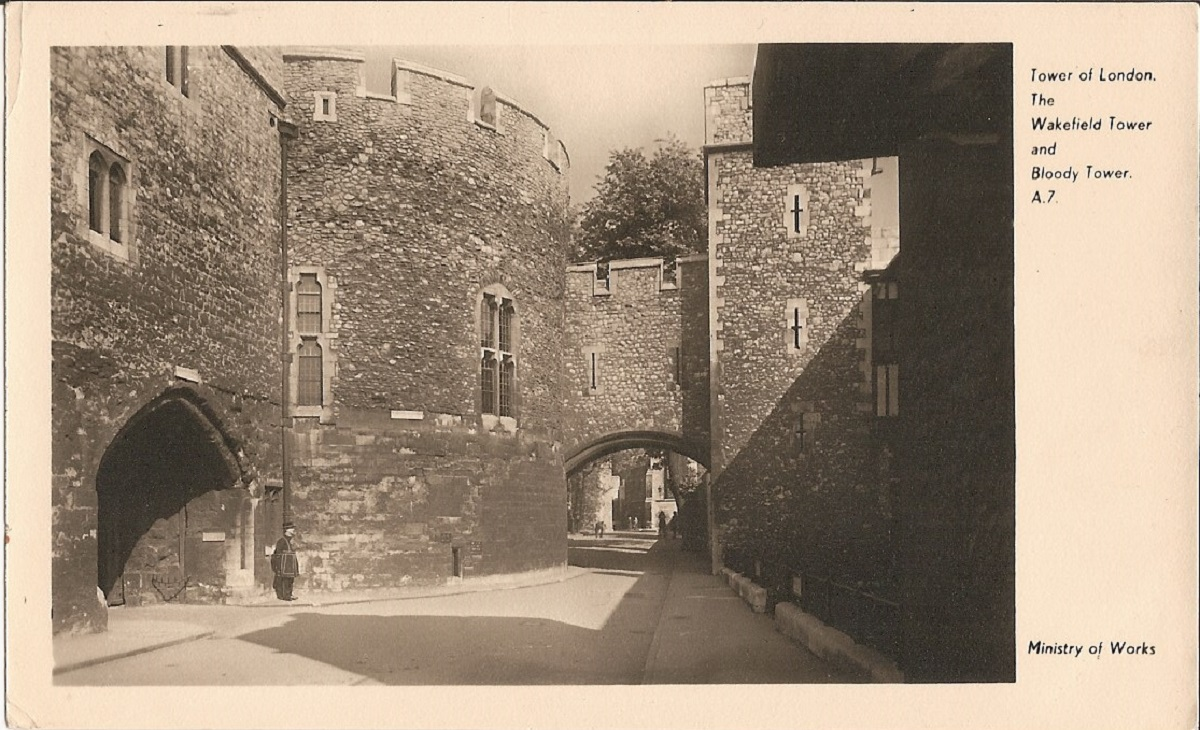 A sepia image of tower walls