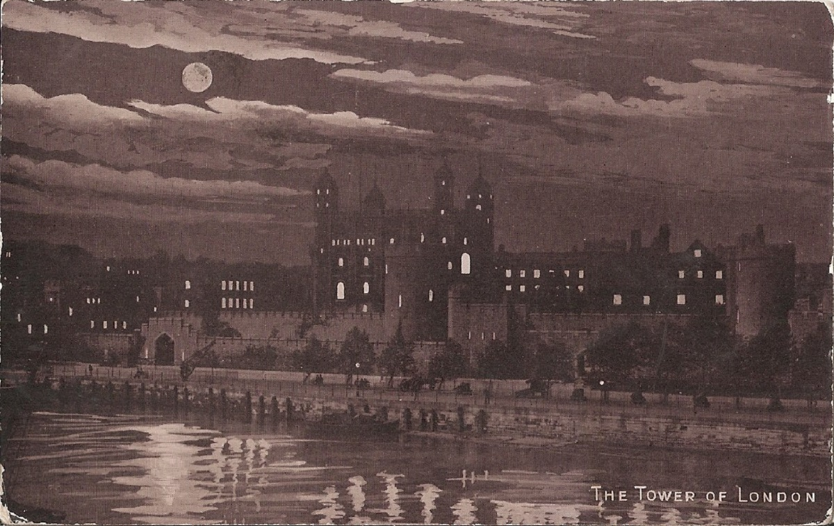 A night view of the tower of london